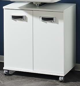 Schildmeyer cAMUS meuble à roulettes blanc/598/largeur: salle de bain