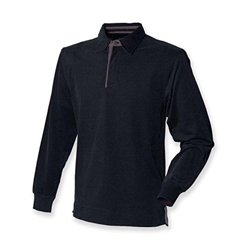 Front Row Collection Super Soft Rugby Shirt, versch.Farben Black