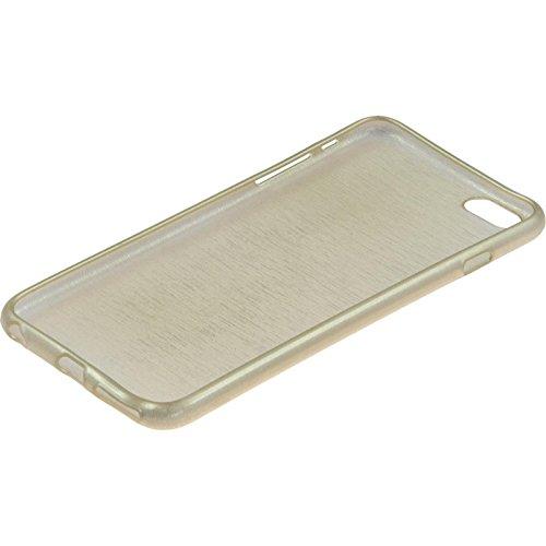 Coque en Silicone pour Apple iPhone 6 Plus / 6s Plus - brushed rouge - Cover PhoneNatic Cubierta + films de protection or