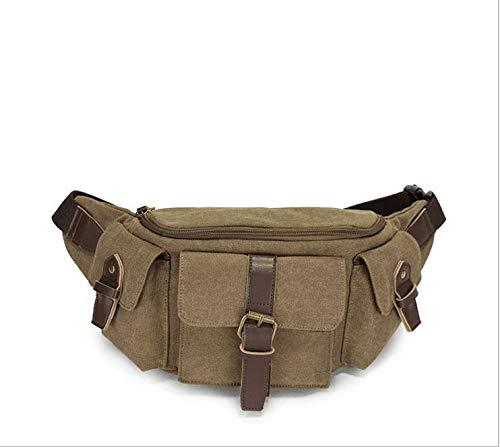 XNBAO Mode-Hüfttaschen Dünne weiche Gürteltasche Pack für Mann Frauen im Freien Laufen Klettern Tragen iPhone 5 6 Plus Samsung S5 S6 Unisex (Farbe : Braun, größe : 30cm*14cm*10cm)