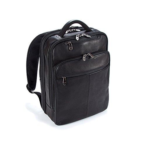 Falcon kolumbianischen Leder Rucksack für 15,6Tablet/Laptop-Schwarz Grain Full Metal