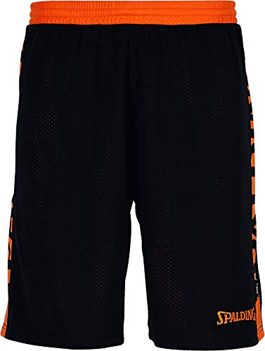 Spalding Herren Essential Reversible Shorts Hose, schwarz/Orange, 4XL
