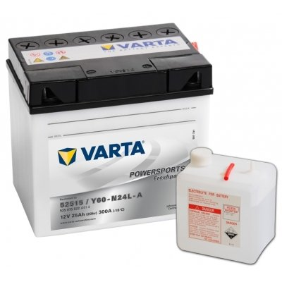 Batterie Varta Funstart inkl. Säure 525015022 A514 12 Volt 25Ah (Akku) 52515 Y60-N24L-A