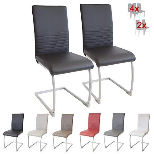 Albatros Esszimmerstühle, Schwarz, 2er-Set