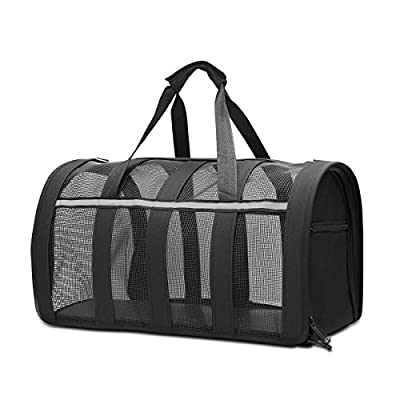 CLEEBOURG Pet Carrier, Soft-Sided Pet Carrier Dogs & Cats Carrier Large Foldable Lightweight Collapsible Airline Approved Pet Travel Carrier by CLEEBOURG