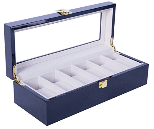 feibrand-uhrenbox-fur-6-uhren-uhrenkasten-schwarz-glas-holz