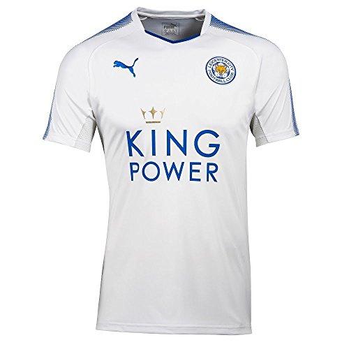 Puma Fußball Leicester City FC England Trikot 3rd 2017 2018 Herren weiß blau Größe XL