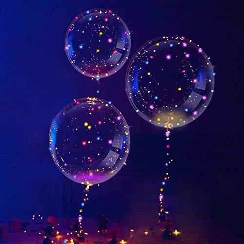 3 Stück LED Ballons, Aufhellen Transparent Ballons, (Ändern Bunt Licht Ballon) Valentinstag Dekoration, Party, Hochzeit, Verschiedene Festivals, Jahrestag Feierlichkeiten von PROACC