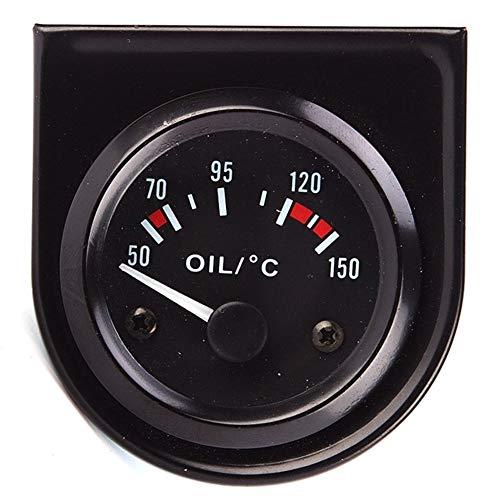 ZHENGHAINIGN Commercio all'ingrosso 12 v nero temperatura olio auto calibro 50-150 gradi misuratore di temperatura olio indicatore strumento di modifica del metro (Color : Random delivery)
