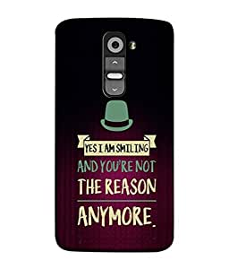 LG G3 Mini Back Cover Yes I Am Smiling And You Are Not The Reason Any More Design From FUSON