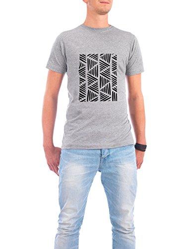 """Design T-Shirt Männer Continental Cotton """"Stripes Painting"""" - stylisches Shirt Abstrakt Geometrie Essen & Trinken Fashion von Paper Pixel Print Grau"""