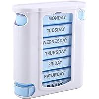 Delaman Tablettenspender 7 Tage Pille Organizer, 28 Grid Schublade wöchentliche Pill Box für Pillen Vitamin Fischöl... preisvergleich bei billige-tabletten.eu