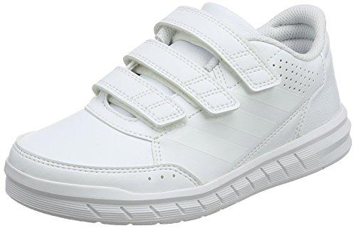 Adidas 31843 altasport cf, scarpe da ginnastica basse unisex – bambini, bianco (ftwr white/ftwr white/clear grey), 35 eu