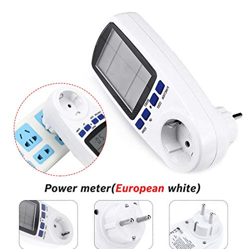 Power Meters - Eu Power Plug Lcd Display 230v 50hz 16a Voltage Volt Wattmeter Europe Wall European Measurement - Indoor Trainers Cyclists Power Cycling Meters 220v Bikes