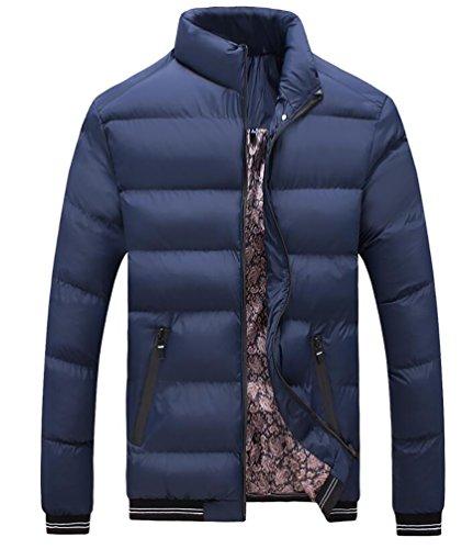 YiJee Homme Grande Taille Manteau D'hiver avec Fermeture Éclair Marine