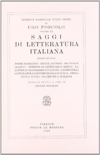 Opere. Saggi di letteratura italiana: 11\2