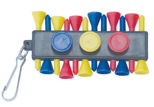 Tee Bar (12 Tees, 3 Ball Markers, Keyring Attachment)