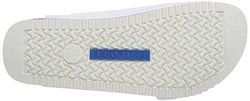 Birkenstock Arizona Birko-Flor, Mules Mixte Adulte Blanc (white Ls White/blue)