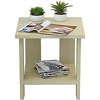 Preisvergleich für Holz Nachttisch Side End Tabelle Multi-Funktions-Platzsparende Nachttisch/Kleine BüCherregal/Tee Tisch, Mit Im Wohnzimmer, Schlafzimmer und Studie (40 * 40 * 42 cm).