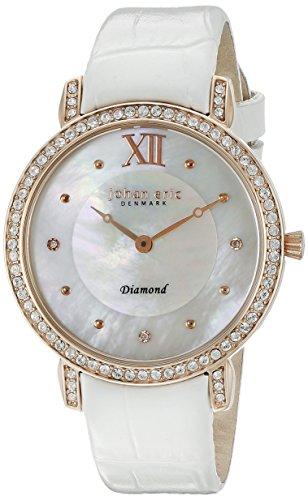 Johan Eric JE7000-09-009.1 - Reloj de pulsera Mujer, color Blanco