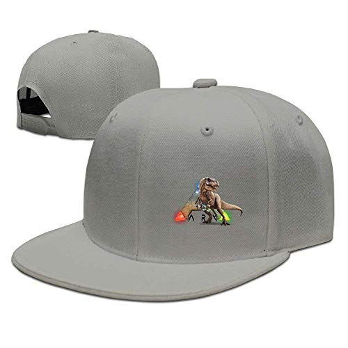 New Unisex Einstellbare Herren Damen Hüte Cool ARK Survival Evolved Snapback Flatbrim Sonnenhüte Hip Hop Baseball Caps Snapbacks Ash -