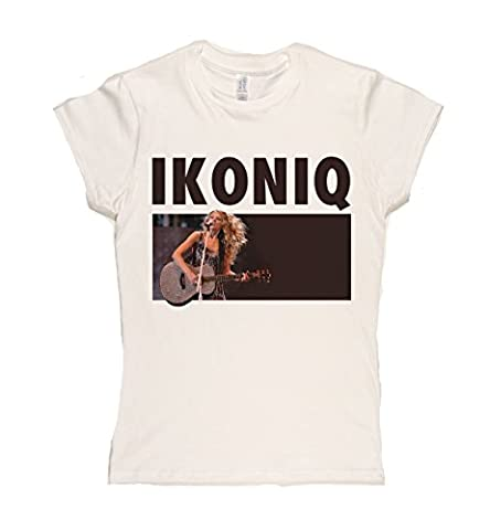 Ikoniq Damen Iconic Pop Artist Graphic T-Shirt (wei_ / print xxlarge)