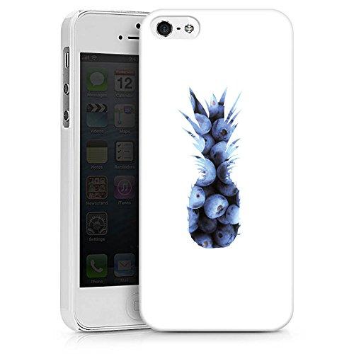 Apple iPhone 6 Silikon Hülle Case Schutzhülle Ananas Blaubeeren Muster Hard Case weiß