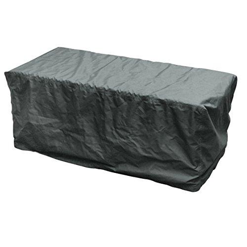 Schutzhülle für Kissenbox wasserabweisend mit Zugband 126x55x51cm grau Garten