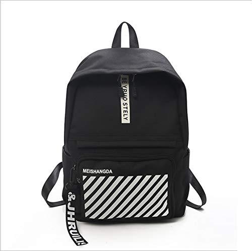 Flower Essential Tote Bag (YRRC Women ' S Backpack, High School College Fashion Backpack, Women ' S Backpack Girl, Waterproof and Breathable Wear Simple Small Fresh Shoulder Bag,Black)