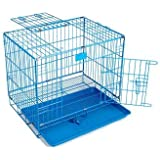 RvPaws Removable Tray Cage for Dog & Rabbit 30 Inch Blue
