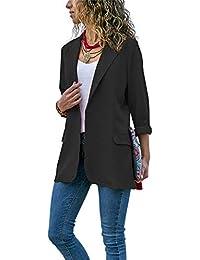 28a244c41 Amazon.es  Negro - Trajes y blazers   Mujer  Ropa