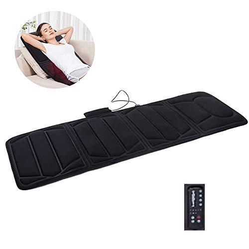 10 Motor-massage-matte (WSN Massagematte mit Wärmefunktion,10 Motoren Vibrationsmassage Matratzenauflage mit von Rückenschmerzen Ganzkörpermassagegerät)