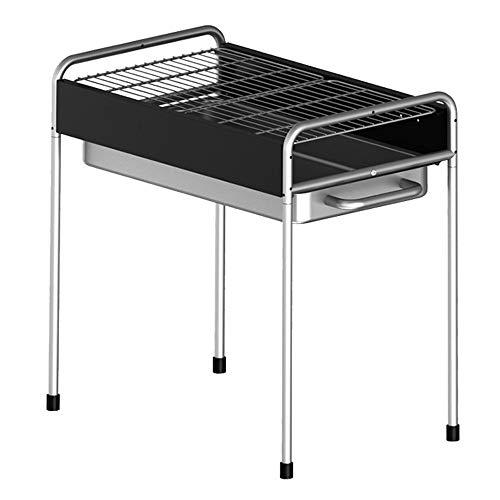 Tragbaren Holzkohle-grill Aus Stahl (WZFC Portable Grill, BBQ Holzkohle Tragbar Mini Grill Rostfreier Stahl Faltbare Mini für Outdoor Garten Camping Party Beach,Black,A)