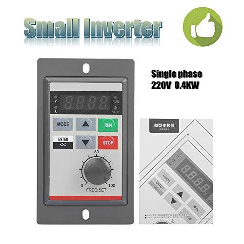 220V 0.4KW Mini VFD Frequenzumrichter,PAM-Regelung Einphasig Mikro Frequenzumrichter Mini VFD Inverter Vektorregelung VFD Drehzahlregler -