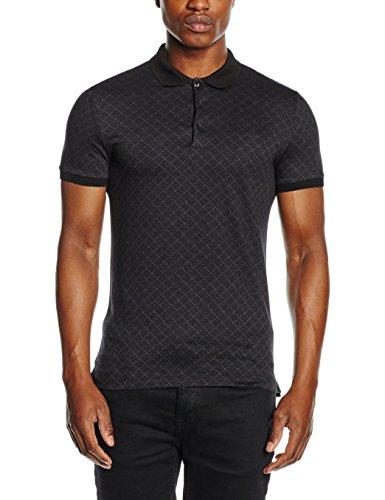Antony Morato Herren T-Shirt Polo Jacquard Mercerizzato schwarz (9000/nERO)