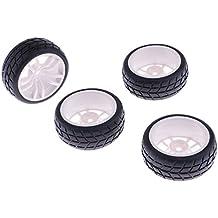 4x Ruedas de Goma y Llantas de Plástico para HSP RC 1:10 Coche de Carretera