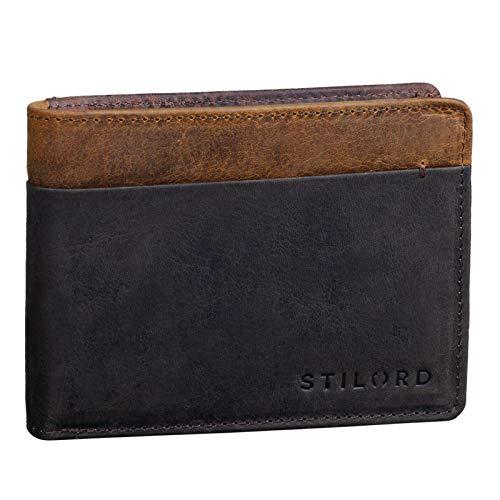 STILORD 'Sterling' Cartera RFID Hombre Cuero Portamonedas