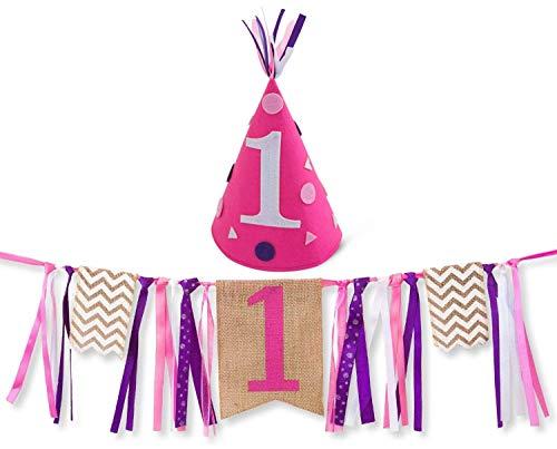 Sterling James Co.. Mein Erster Geburtstag Mädchen Geburtstag Party Set, 1 Jahr Alt, Kindergeburtstag, Girlande