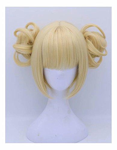 COSPLAZA Anime Convention Cosplayer Fans Cosplay Perücke Beige/Blond Prestyled Buns Mädchen Rollenspiel Perücken