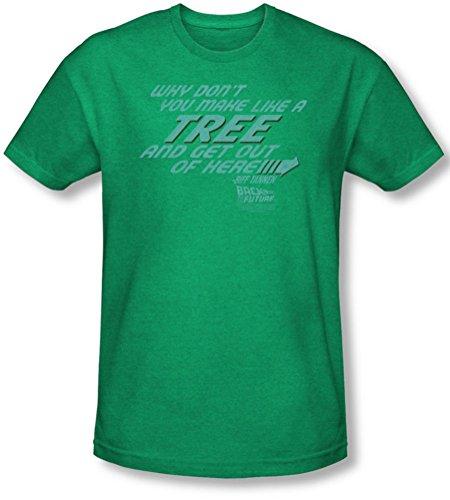 Back To The Future-Maglietta per uomo, A forma di albero di Natale, colore: verde Verde - Kelly green
