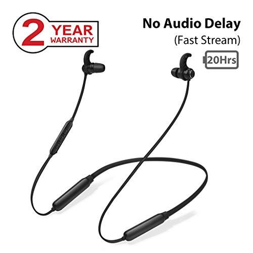 Avantree NB16 20Std. Bluetooth Nackenbügel Kopfhörer für TV PC, Fast Stream Magnetische Wireless Ohrhörer mit Mikro, Keine Verzögerung, Kompatibel mit iPhone Handys Musik & Anrufe Leicht & Komfortabel