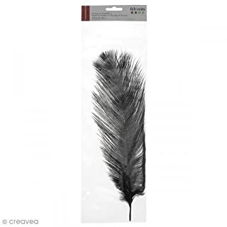 Artemio 13030098 Plume Autruche, Noir, 12 x 0,5 x 40 cm
