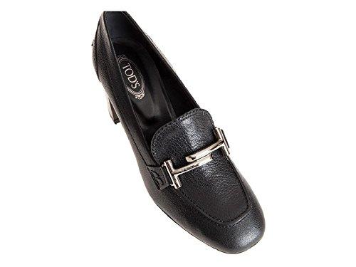 Chassures à talon Tod's en cuir noir avec morse - Code modèle: XXW0ZM0Q950E4VB999 Noir