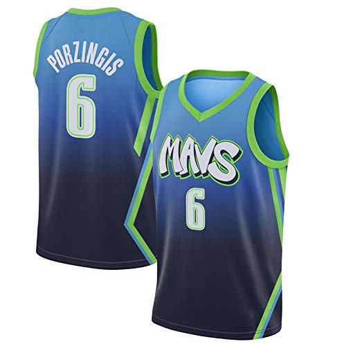 Herren Basketball Jersey - Kristaps Porzingis # 6 Luka Doncic # 77 Mavericks Retro T-Shirt Urban Version Besticktes Basketballhemd Top Ärmellose Sportweste, Familie (S-XXL)-#
