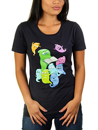 Halloween Fairy Tale - Damen T-Shirt von Kater Likoli, Gr. L, French (Internet Meme Party Kostüm)