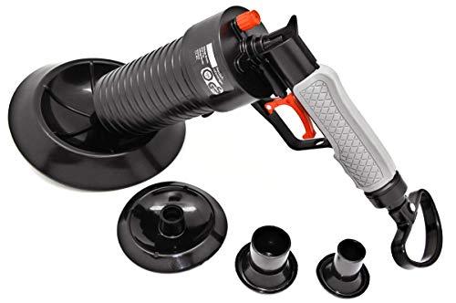 mLabs Pressluft Rohrreiniger für Bad und Küche - TÜV geprüft - Rohrreinigerpistole mit vier Aufsätzen zur Reinigung verstopfter Abflüsse