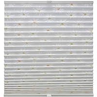 Original Easy-Shadow Plissee verspannt Faltstore in der Farbe grau Breite 56 cm x Höhe 140 cm 56x140 cm Montage im Rahmen in der Glasleiste Maßanfertigung
