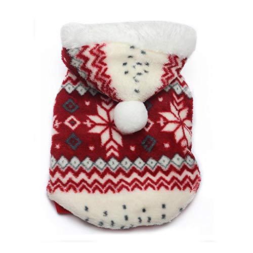 LIXIAOYUN Haustier Hund Zweifarbige Schneeflocke Mantel Herbst Und -