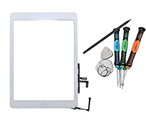 Trop Saint® iPad Air iPad 5 Touchscreen Digitizer Glas Display Scheibe in Weiß Weiss