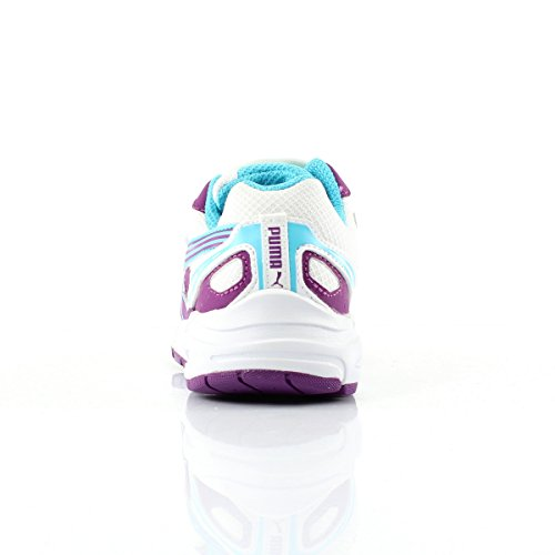 Puma AXIS 2 MESH V JR Weiß Lila Blau Kinderschuhe Weiß